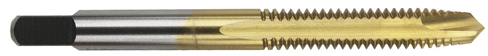 Morse Cutting Tools 98521 Metric Spiral Point Plug Taps, High-Speed Steel, Titanium Nitride Finish, D5 Pitch Diameter Limit, 3 Flutes, M10 x 1.25'' Size by Morse Cutting Tools