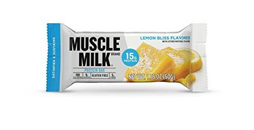 Muscle Milk Protein Bar, Lemon Bliss, 15g Protein, 12 count Milk Desserts