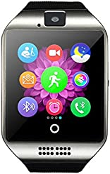 97b41dbf6f Colofan スマートウォッチ 多機能腕時計 SIMカード対応 Iphone&Android 男女兼用 Q18 (シルバー)
