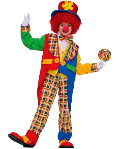 Clown on the Town Costume - Child Costume - Small