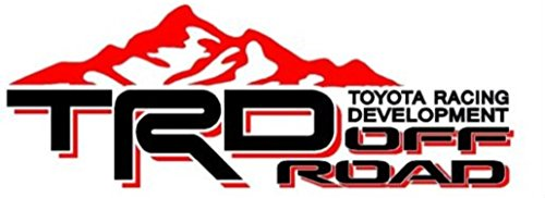 Noa Store Toyota TRD Truck Mountain Off-Road 4x4 Racing Tacoma Decal Vinyl Sticker Pair of 2 (Black/RED) -