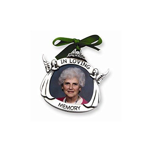 Diamond2Deal in Loving Memory Pewter Memorial 1.5x1.75 Photo Frame Ornament for Women from Diamond2Deal