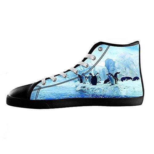 Custom Pinguino Womens Canvas shoes I lacci delle scarpe scarpe scarpe da ginnastica Alto tetto