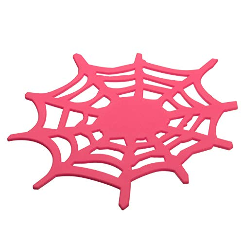 Hitommy Silicone Gel Spider Web Mat Anti-Slip Car Dashboard Pad for Mobile Phone GPS Universal - Pink