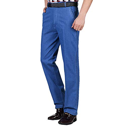 Pantalon Jeans Léger De Travai Épais Élastique Jambe Casual Ou Décontracté Clair Large Disponible Pour Occasion Basique Évasé Lourd Hommes Légér Taille Haute Droite Loisir Officiel Bleu d0vZxP