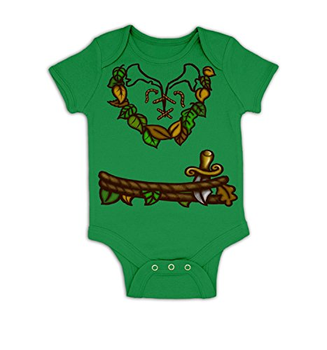 Pan Costume Baby Grow - Kelly Green 12 - 18 Months