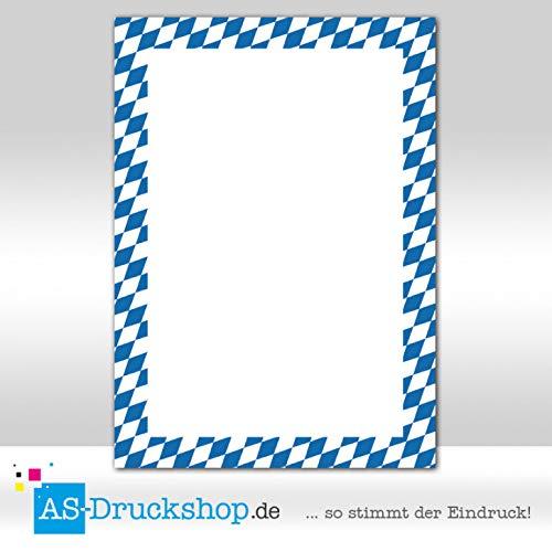 90 g-Offsetpapier 100 Blatt blau-weiß DIN A5 Designpapier Bayern