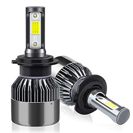 H7 LED Faros Delanteros Bombillas de Coches 8000LM 6000K, 2 Lámparas: Amazon.es: Coche y moto