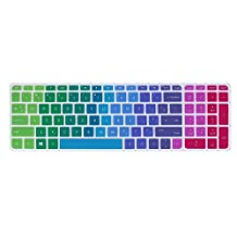 """Leze - Ultra Thin Laptop Keyboard Cover Skin Protector for 17.3"""" HP OMEN 17 VR,HP ENVY m7-n,Pavilion 17-g 17t-n 17-s,17-g015dx 17t-n100 17-s030nr m7-n109dx 17-w033dx Laptop - Rainbow"""