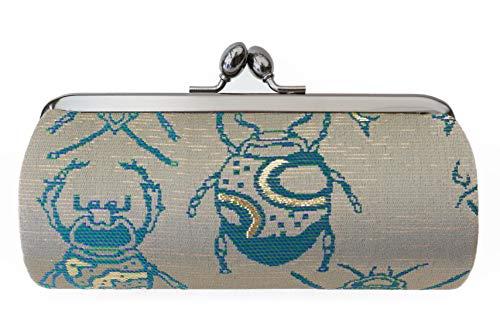 Insect B Pattern-A small clutch GAMAGUCHI, Nishijin KINRAN