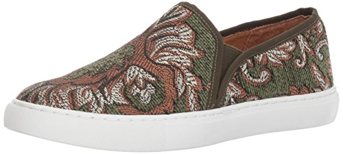 Opportunity Shoes - Corso Como Women's Skipper Sneaker, Olive Brocade, 6 Medium US