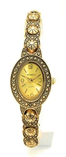 Ladies Elegant Oval Modern Antique Metal Link Bracelet Fashion Watch Wincci (Antique Ladies Watch)