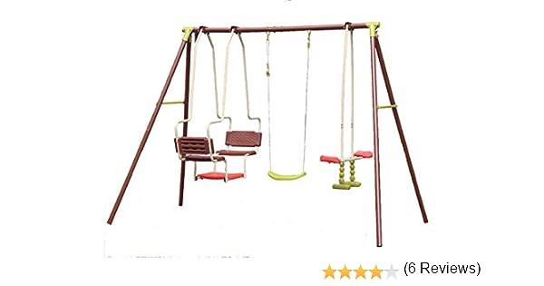Juego de columpios infantiles para exteriores, incluye columpio tipo góndola y balancín doble: Amazon.es: Jardín