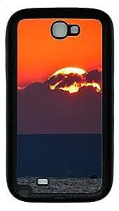Samsung Note II Case Giant Sun TPU Custom Samsung Note 2 Case Cover Black