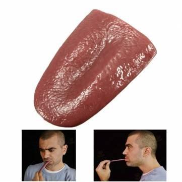 Realistic Tongue Gross Jokes Prank Magic Tricks Halloween Horrific Prop by Completestore