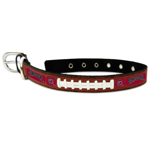 NCAA South Carolina Fighting Gamecocks Classic Leather Football Collar, Medium