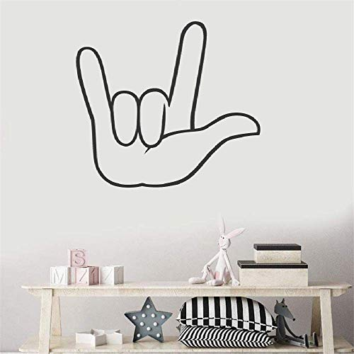 Foplax Quote Mirror Decal Quotes Vinyl Wall Decals I Love You - American Sign Language for Living Room Bedroom Nursery Kids Room