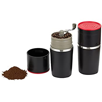 Amazon.com: Cafflano World s First Portable All-in-one Coffee Maker Tumbler Hand Mill Grinder ...