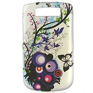 Hard Snap-on Shield With SPRING BLOSSOM Design Faceplate Cover Sleeve Case for BLACKBERRY 9800 TORCH [WCH61]
