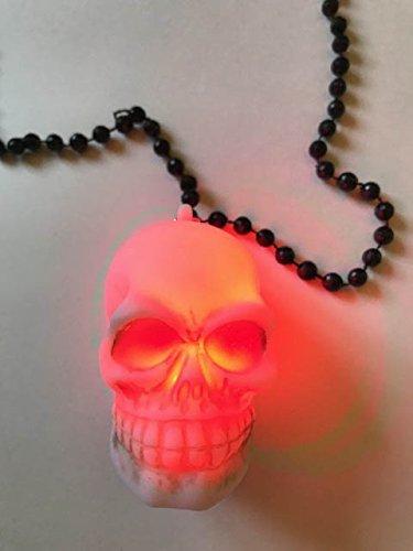 Halloween Sound Machine (Halloween Necklace and Halloween Light up Toys Assortment, Skull LED Light Up Necklace, Skeleton Noise Maker and Light Up Ears...PLUS Bonus LED Finger Lights)