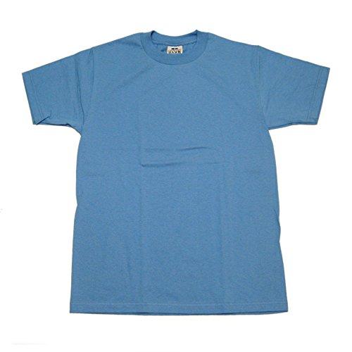 Pro Club Men's Heavyweight 100% Cotton T-Shirt Sky Blue (Blue Sky Heavyweight T-shirt)