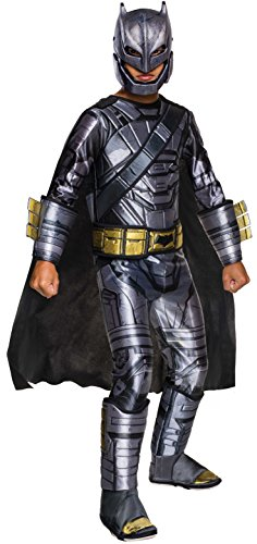 Batman Family Halloween Costumes (Rubie's Costume Batman v Superman: Dawn of Justice Armored Batman Deluxe Child Costume, Small)