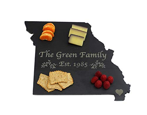 Custom Missouri Slate Cutting Board, Serving Tray, or Cheese Board- Personalized with Laser Engraving