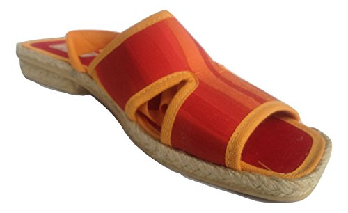 LA VAGUE , Sandales Plateforme mixte adulte - orange - ROSE ORENGE,