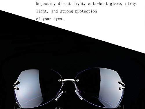 Modelos Sol UV Unisex Retro De Cuadro Marco Anti WJYTYJ Grande Clásico Sin Gafas Conducción Polarizados De Retro BZazwq