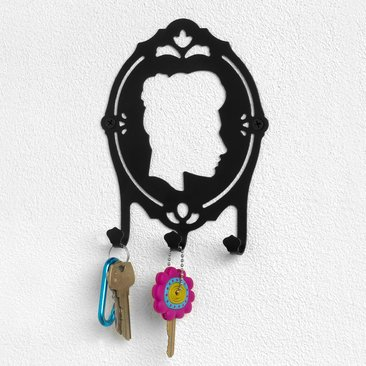 Girl Silouette (Cameo Vignettes Wall Mount Key Hook Rack)