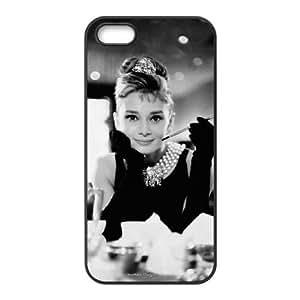 iPhone 5,5S phone cases Black Audrey Hepburn Phone cover KLW4111624