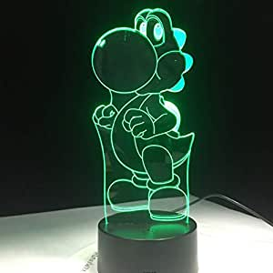 ZLXXYD Night Light Classic Cartoon Game Figure Super Mario Bros Luigi Toad Dragon 3D Led Lamp Acrylic Novelty Christmas Lighting Gift USB Touch Toy
