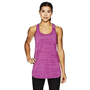 Reebok Women's Legend Active Racerback Basic Tank Top- Perforated Hollyhock Heather/Purple, Small