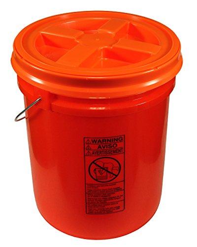 (Orange 5 Gallon 90 mil Bucket with Gamma Seal Lid (Orange))