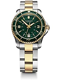 Swiss Army Women's 241612 Maverick Watch with Green Dial and Two-Tone Stainless Steel Bracelet
