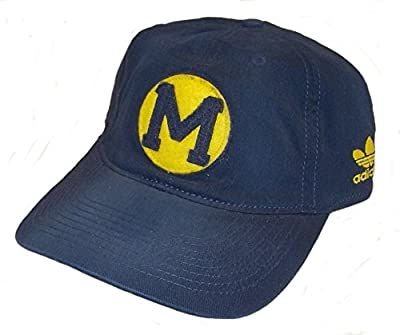 Michigan Wolverines adidas Navy Flex Hat Fitted Stretch Fitted S/M Curve Bill by ADIDAS