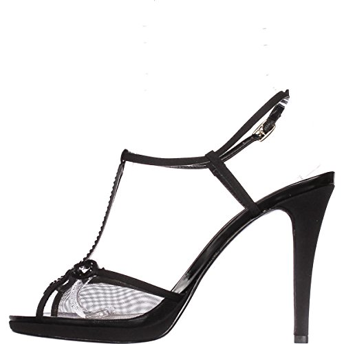 Caparros Claudia Strappy Rhinestone Dress Sandals - Black, 10 US