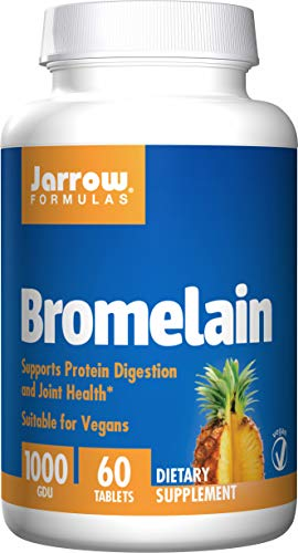 Jarrow Formulas Bromelain, Supports Protein Digestion and Joint Health, 1000 GDU, 60 Easy-Solv Tabs