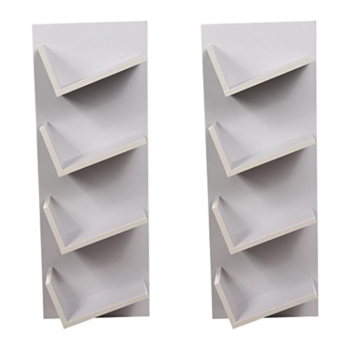 Bulges New Home CD DVD Rack Cabinets Tall Wood Bookcase Bookshelf Storage Shelf Shelves Gray by Bulges (Image #6)