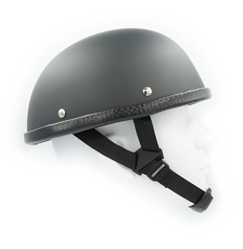 Hot Choppers - Hot Rides Classic Chopper Biker Motorcycle Helmet Novelty For Cruiser Harley Scooter ATV Turtle Flat Black (Small)