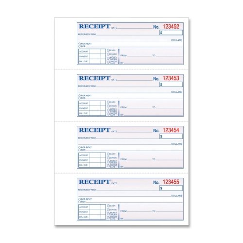 Wholesale CASE of 15 - Tops Carbonless Manifold Receipt Books-Receipt Book,Carbonless,3-Part,2-3/4''x7-1/4'',100/BK,WECAPK by TOP