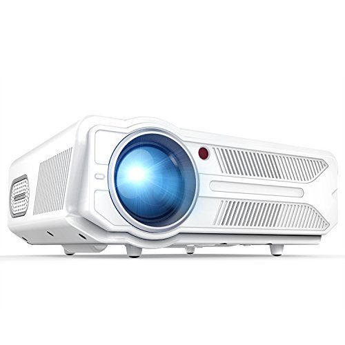 DBPOWER Projector, 3200 Lumens LCD Video Projector, Multimedia Portable Home Theater Projector Support 1080P HDMI USB SD VGA AV for Home Cinema TV Laptop Game iPhone -