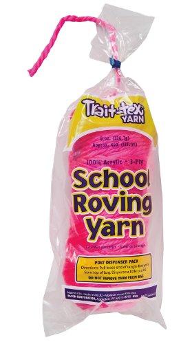 Trait-tex 3-Ply School Roving Yarn Skein, Hot Pink, 8 (Pacon Acrylic Roving Yarn)