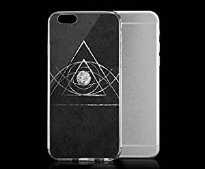 Light weight with strong PC plastic case for iPhone 4 4s Art Illustration Art The Eye