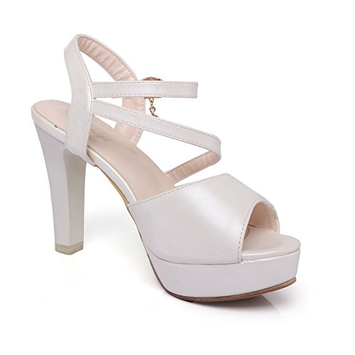 Ouvert Blanc 5 Bout 36 Femme Blanc SLC04210 AdeeSu gxwpTq8Rn