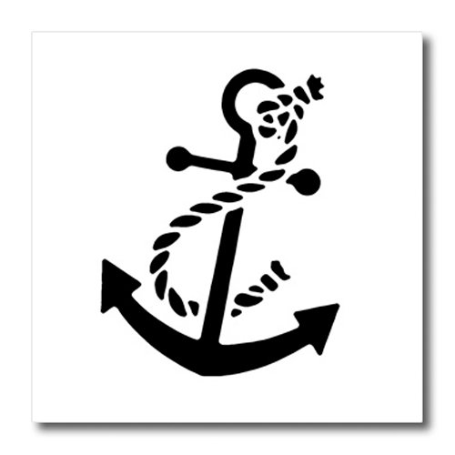 3dRose ht_56050_2 Ships Anchor Iron on Heat Transfer Paper for White Material, 6 by 6-Inch