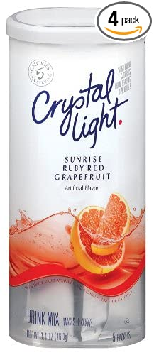 crystal light ruby red grapefruit drink mix 10quart 34ounce