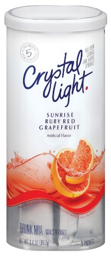 Crystal Light Ruby Red Grapefruit Drink Mix (10-Quart), 3.4-Ounce Packages (Pack of 4)