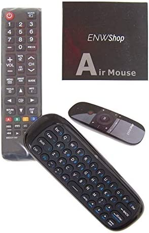 Black Wireless Mini Keyboard /& Mouse Easy Remote Control for Samsung SAMSUNG UE55MU6220 55 Smart TV