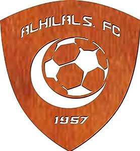 ليزرأرتس لوحة جدارية خشبية، شعار نادي الهلال120*160سم، 3 ملم - BBD311227
